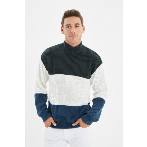 Trendyol Zeleni, muški, pleteni, džemper s tankim krojačkim omotom, polovan  Cene