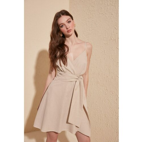 Trendyol Ženska haljina Mini braon | krem  Cene