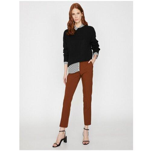 Koton Ženske braon džepne detaljne hlače  Cene