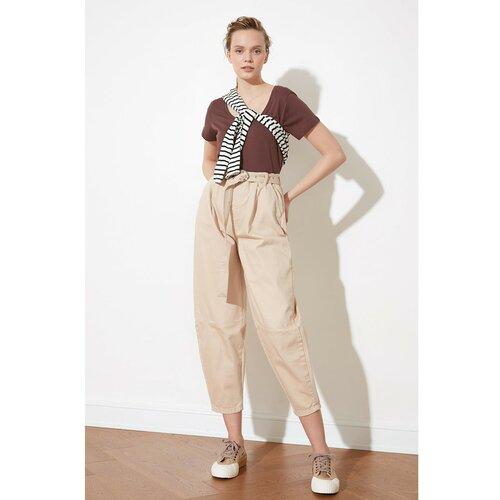 Trendyol Slouchy Jeans krema s visokim strukom  Cene