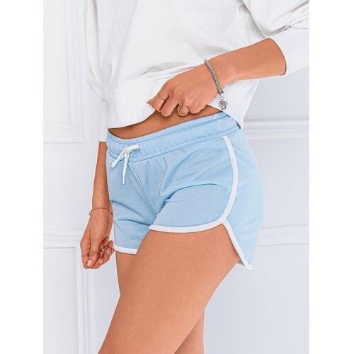 Edoti Ženske kratke hlače WLR010 bijele svijetlo plavo  Cene