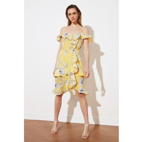 Trendyol Žuta haljina zamašnjak bela | krem  Cene