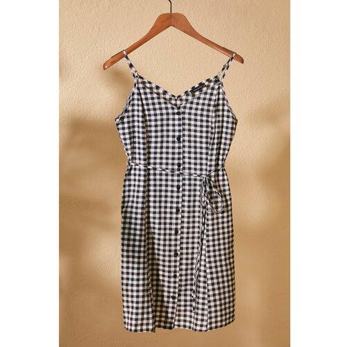 Trendyol Višebojna haljina s karatnim pojasom siva | braon  Cene