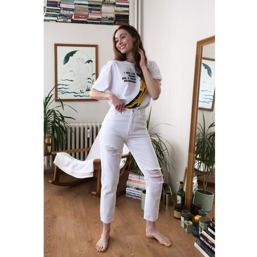 Trendyol Ženske farmerke Mom jeans siva | braon  Cene