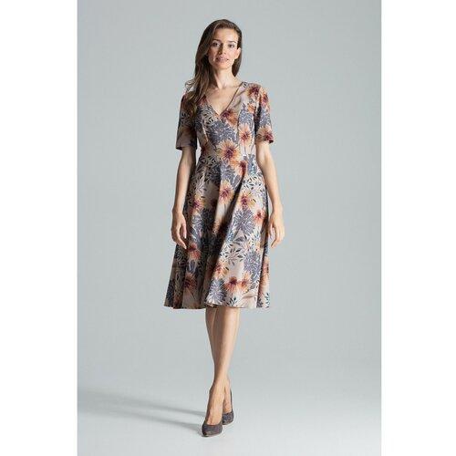 Figl Ženska haljina M673 siva   braon  Cene