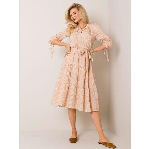 Fashionhunters Beige striped dress narandžasta | krem  Cene