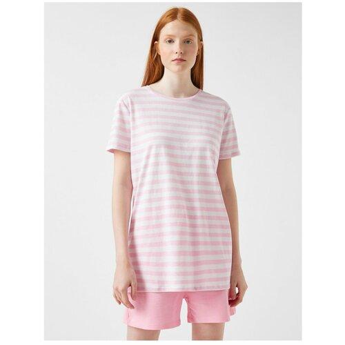 Koton Ženska ružičasta majica sa prugama  Cene