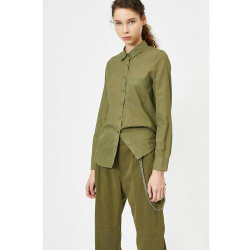 Koton Ženska zelena džepna detaljna košulja  Cene
