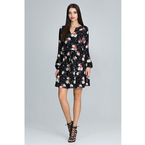 Figl Ženska haljina M597 Uzorak 75 crna | siva | smeđa  Cene