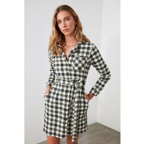 Trendyol višebojna haljina sa košuljom sa pojasom  Cene