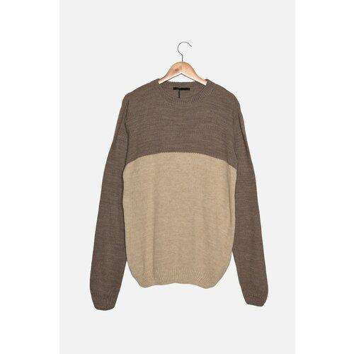 Trendyol Mink muški džemper s tankim fit grlom s vratom  Cene