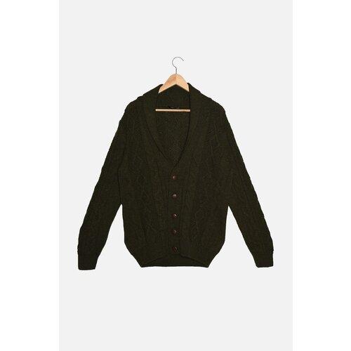 Trendyol Pleteni džemper od hakija za muškarce, tanki pleteni džemper s ogrlicom za kosu  Cene