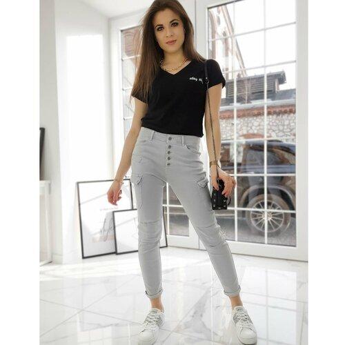 DStreet Ženske pantalone UY0728 sive  Cene