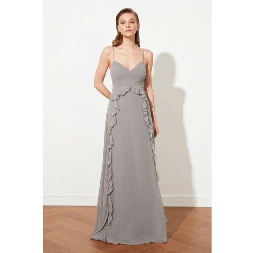 Trendyol siva večernja haljina s zamašnjakom i maturantska haljina  Cene