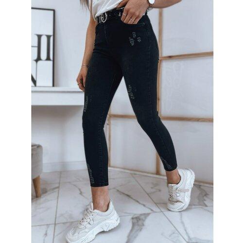 DStreet LINDA ženske traper hlače crne UY0809 crne siva  Cene