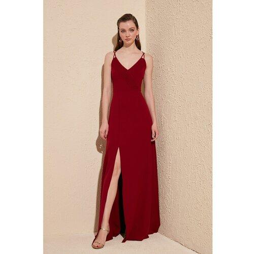 Trendyol Ženska večernja haljina tamnocrvene boje  Cene