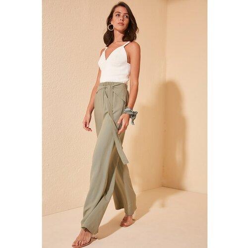 Trendyol Green Fastening Detailed Trousers bela | braon | narandžasta | krem  Cene