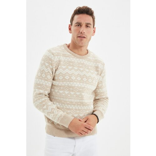 Trendyol Camel Men Slim Fit Ženski pleteni džemper s grlom za vrat  Cene