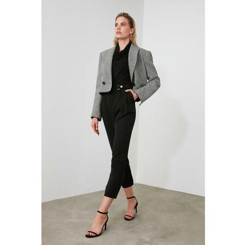Trendyol Ženske hlače Stud Pants Black krema  Cene