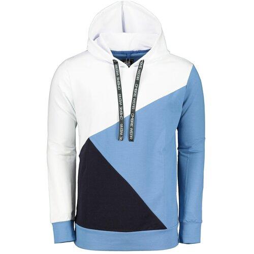 Ombre Muška dukserica B1050 crna plava | bijela  Cene