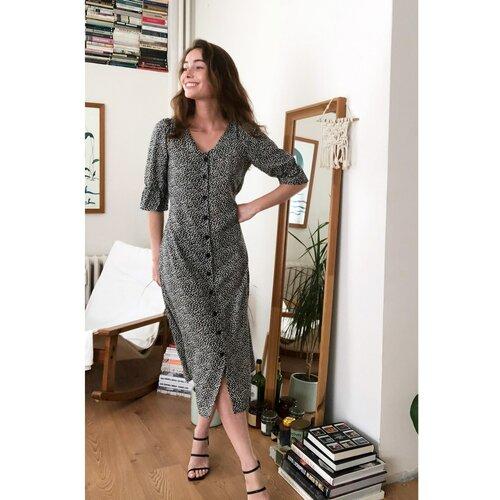Trendyol Ženska haljina s uzorkom u sivoj boji smeđa  Cene
