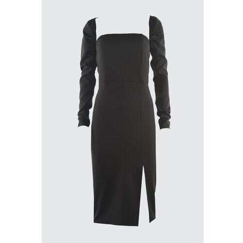 Trendyol Crna Bolero detaljna haljina s prorezima siva  Cene