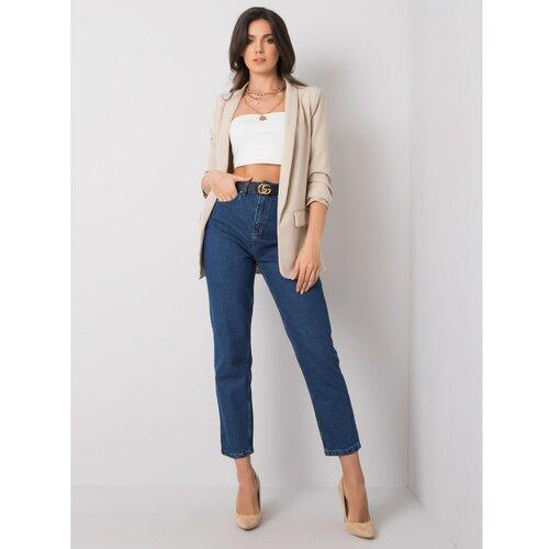Fashionhunters RUE PARIS Tamnoplave traperice od majice  Cene