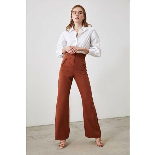 Trendyol smeđe džepne hlače s detaljima  Cene