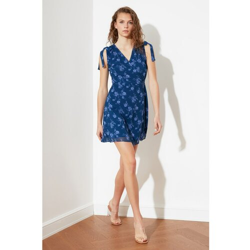Trendyol plava vezana haljina s uzorkom  Cene