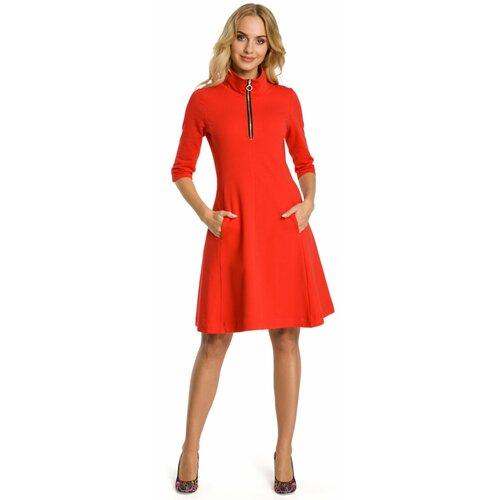 Made Of Emotion Ženska haljina M349 smeđa | Crveno  Cene