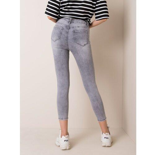 Fashionhunters Svjetlo sive uske traper hlače  Cene