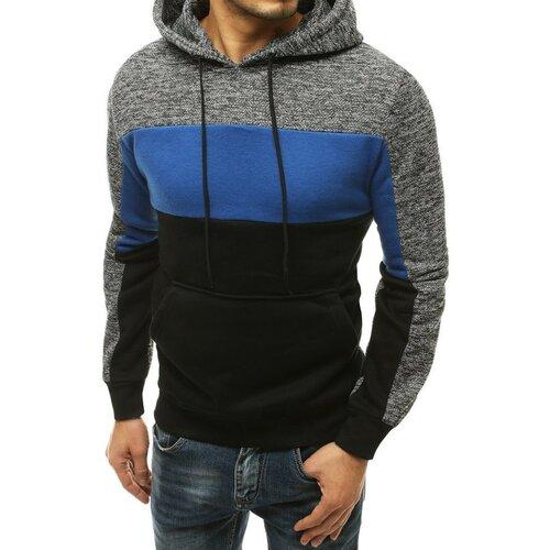 DStreet Muška siva kapuljača sive boje BX4856 crna plava   siva  Cene