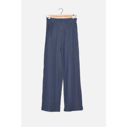 Trendyol Lažne pletene hlače Indigo  Cene