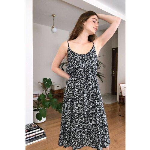 Trendyol Ženska haljina Patterned crna   siva Slike