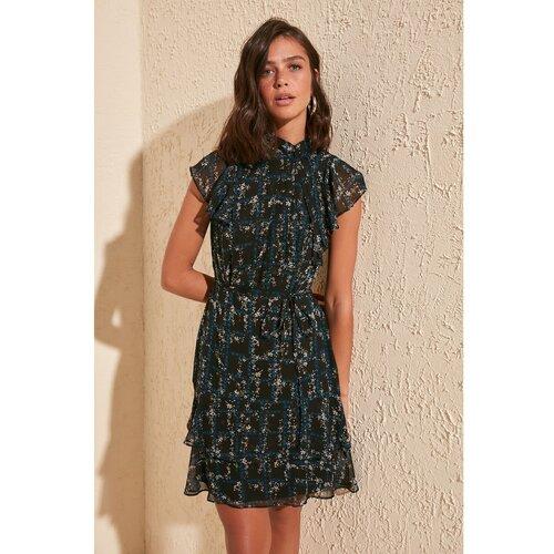 Trendyol Ženska haljina s uzorkom cvijeća crna smeđa  Cene