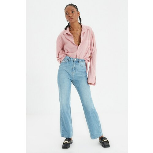 Trendyol Plave traperice širokih nogavica visokog struka 90 -ih Slike