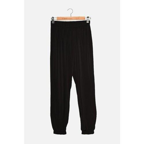 Trendyol Crne široke pletene pantalone za trčanje Slike