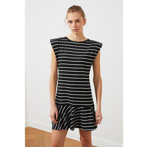 Trendyol višebojna pletena haljina s vata zamašnjakom s više pruga  Cene