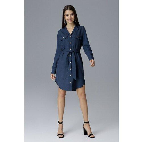 Figl Ženska haljina M630 Teget crna   plava  Cene