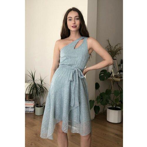 Trendyol detaljna haljina s plavim ovratnikom  Cene