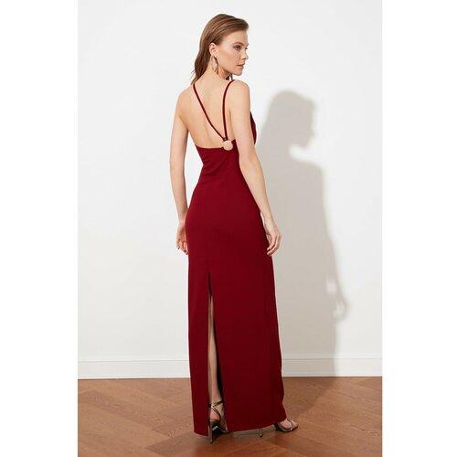 Trendyol Burgundija Natrag Detaljna večernja haljina i haljina za maturu  Cene