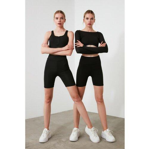 Trendyol Ženske sportske hlače Biker hlače crne boje siva  Cene