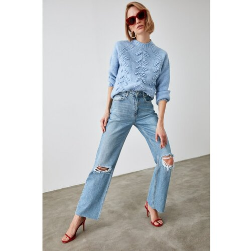 Trendyol Ženske farmerke Wide cut plava | siva  Cene