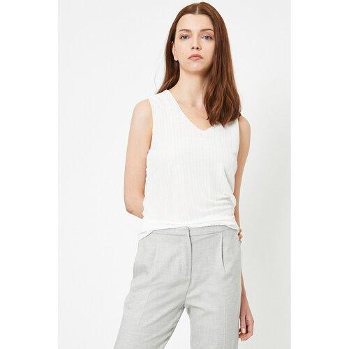 Koton Ženska bijela bluza s izrezom  Cene