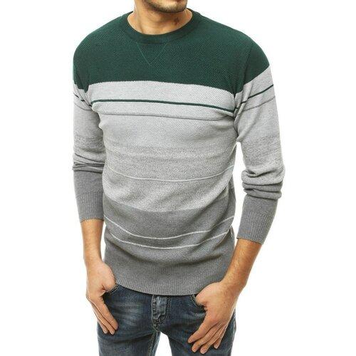 DStreet Zeleni muški džemper WX1676 siva   kaki  Cene