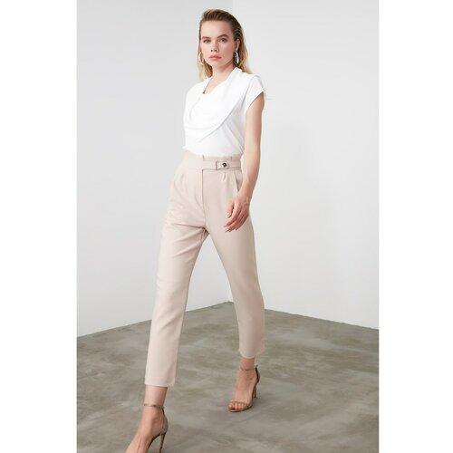 Trendyol Ženske pantalone Stud Pants smeđe boje krema  Cene