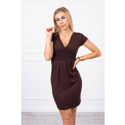 Kesi 8310 Smeđa braon haljina  Cene