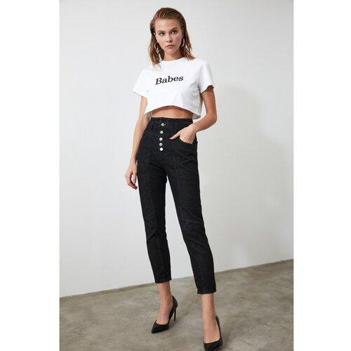 Trendyol Ženske traperice visokog struka crne boje bijela  Cene