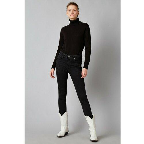 Koton Ženske crne traperice crne boje siva  Cene