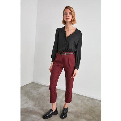 Trendyol Burgundske hlače ravnog kroja  Cene